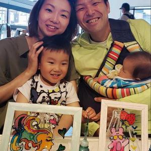 ご家族でステンドグラス風アート体験!