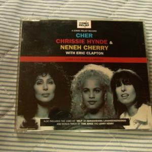 Cher, Chrissie Hynde & Neneh Cherry With Eric Clapton – Love Can Build A Bridge:シングルCD・UK盤