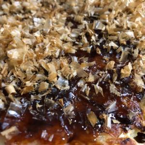 米粉で作ったお好み焼きは もちもちして美味しい❤️