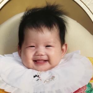 可愛い娘ちゃんは4ヶ月になりました❤️わたしは後もう少しで47歳(笑)