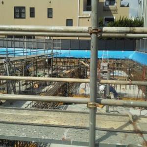 鉄骨造の基礎工事・・・地中でこんな構造になっています