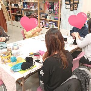 出張編み物教室です