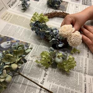 素敵!紫陽花リース   &   ドンキオープン
