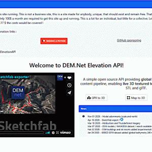 DEM-Net Elevation API生成glbファイルのobjファイル変換