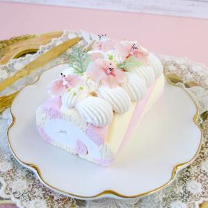レッスンレポ 桜のストライプロールケーキとマカロン3種★フェイクスイーツ