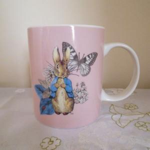 ピーターラビット ピンクのマグカップ