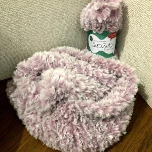 ひさびさにスヌード編みました