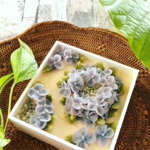 紫陽花のボックスおはぎ