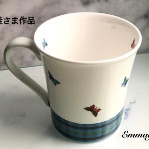 [生徒さま作品] ファミリア風 チェック マグカップ ( EI ちゃん )