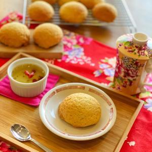 点心教室: 叉焼メロンパン & 桂花ゼリー