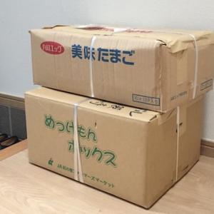 ブックオフの宅配買取サービスでダンボール2箱回収待ち