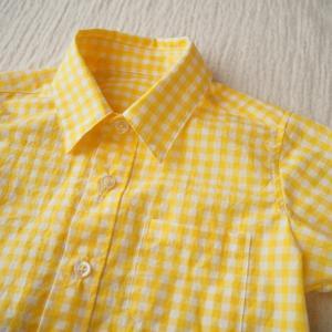 【出品しました】襟がきれいなキッズシャツ