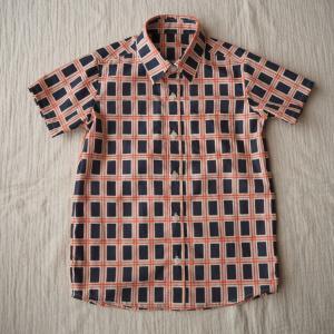 【オーダー】ウィンドウペンチェックのキッズシャツ