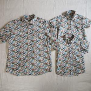 """【オーダー】リバティ""""Queue for the zoo""""の親子お揃いシャツ"""