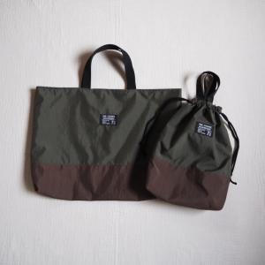 【オーダー】ナイロン生地のレッスンバッグと上靴袋