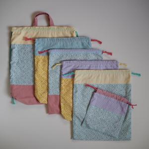 【出品しました】kukka花柄の体操服袋と巾着袋