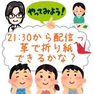 2020年7月3日 21:30から配信、革で折り紙できるかなっ?ヽ(^o^)丿