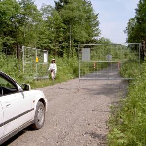 鹿ゲートとチョウ