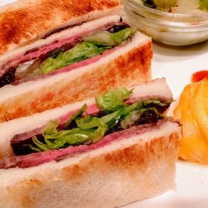 【嵐山】地元に愛される喫茶店で朝からプチ贅沢☆ローストビーフを使ったサンドイッチモーニング!