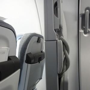 AY1739,JL6901便 A321 ヘルシンキーリスボン エコノミー/ ジャンプシートの隣!2人席搭乗記 May.'19