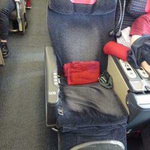 JAL995便 B767-300ER 羽田ー那覇 国際線仕様機材 クラスJ (ビジネスクラス・スカイラックス)搭乗記 Feb,'20