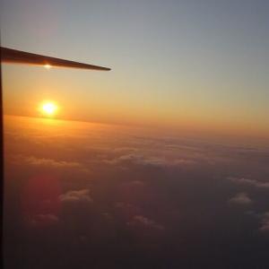 JTA566便 B737-800 宮古ー那覇 普通席 最後列3人席 サンセットフライト搭乗記 Feb.'20