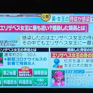 都78人&英エリザベス女王の侍従陽性:マスクせずに従事&愛媛で葬儀で集団感染&テレ朝ヒーローも感染