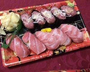 大トロやネギトロづくしの出前寿司!