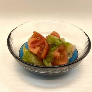 [たち吉]ガラス小鉢にトマトとレタスで冷たいサラダっ♪