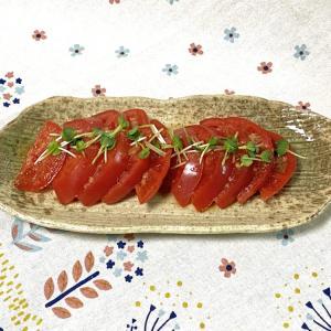 冷たいトマトで簡単な一品をすぐ作ってしまおうっ♪