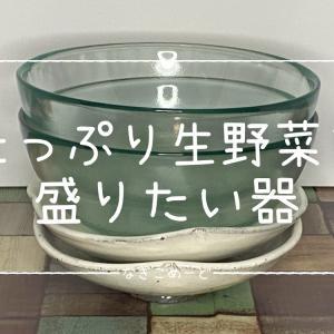 【ビバホーム】【オフハウス】夏に活躍するガラスボウルと小皿 アンティーク風な器で爽やかな食卓にっ♪