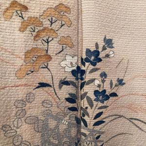 秋草の着物コーデ