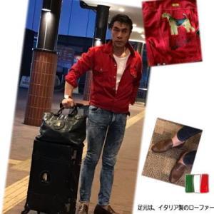 自分で今風に再裁断し縫製した赤いGジャンと大阪・名古屋・横浜川崎でのプラッキング・・・