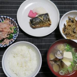 炊屋食堂の田舎定食、簡単安く旨く、バランスよく・・・