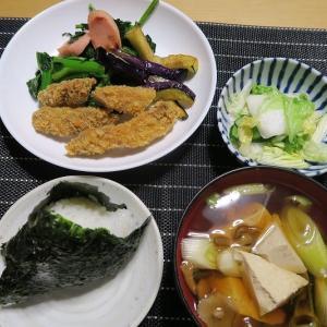 一口カツフライ、炊事や食堂の名物メニュ~、質素倹約一汁一菜、簡単安く旨く・・・昭和の味。