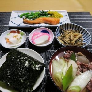 田舎定食、山形芋煮と銀ちゃん、炊屋食堂の質素倹約一汁三菜、簡単安く旨く・・・庶民の味。