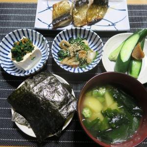炊屋食堂の質素倹約一汁三菜、簡単安く旨く・・・田舎定食。