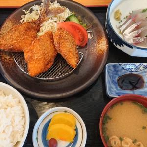 松浦市今福にあるお店『きらく』 アジフライすげ~~旨かった!!