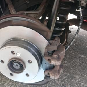 W204 ブレーキ周り交換