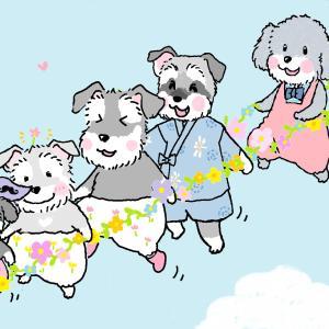 お花のロープで行った髭犬祭♪