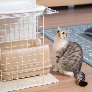 100均猫ケージを猫トイレカバーにリメイクしました。