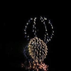 神明の花火・・・
