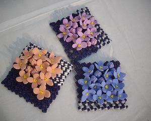 コースターに紫陽花