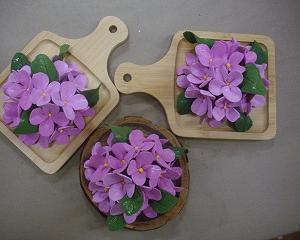 クレイあじさい花のプレゼント