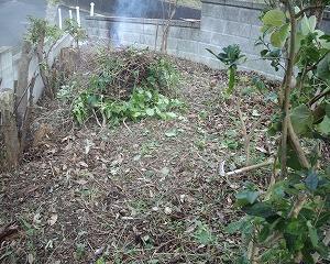 庭の草木の始末