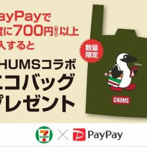 エコバッグ生活(セブンイレブン×PayPay×CHUMS)