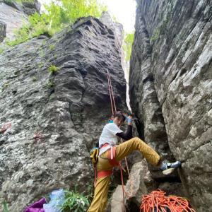 見晴岩クライミングday2