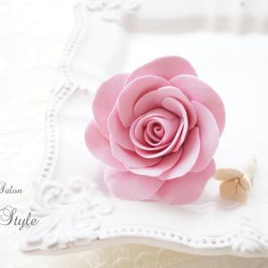 クレイ(粘土)で作るバラ*クレイフラワーレッスン