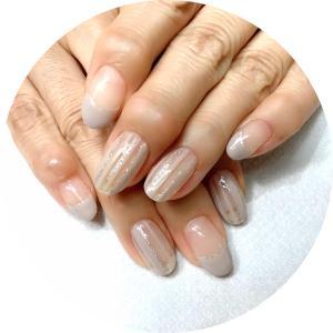霜月の爪化粧☆11月のネイルはグレージュのシンプルネイル