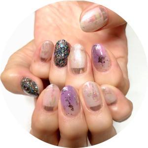 神無月の爪化粧☆10月のネイルは偏光パールにハロウィンカラーをプラスしたハンドとフットネイル